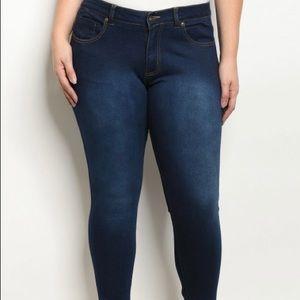 Plus Size Skinny Stretch Jeans Sz 8-18